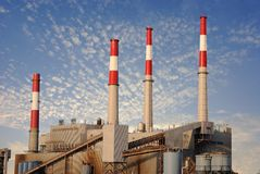 Industrial Power Plant Stock Image