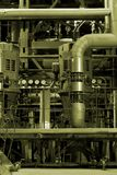Industrial power plant. Equipment, cables and piping as found inside of a modern industrial power plant Stock Images