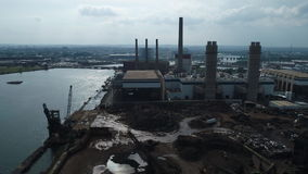 Industrial power plant. Aerial drone video Industrial power plant 4k 60p prores stock footage
