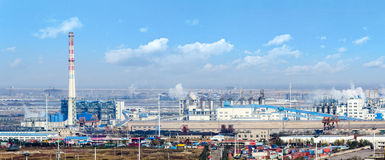 Industrial power plant in Lianyungang City, Jiangsu Province Royalty Free Stock Photo