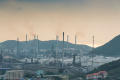 industrial power plant oil station Royalty Free Stock Images