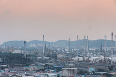 industrial power plant oil station Royalty Free Stock Photos