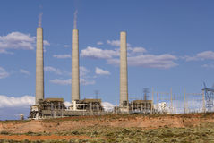 Industrial Power Plant in Page, Arizona Stock Images