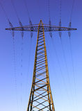 Industrial power pole Stock Image