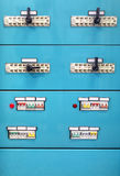 Industrial power supply control panel Royalty Free Stock Photos