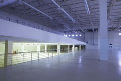 Industrial premises. Large modern empty industrial premises Royalty Free Stock Photography