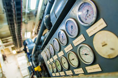 Industrial Pressure Gages stock photo