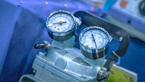Industrial Pressure Gauge Equipment In Laboratory. For Testing Pressure Control n royalty free stock photo