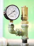 Industrial Pressure Gauge Stock Photo