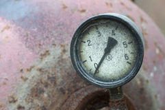 Industrial pressure meter Stock Photography