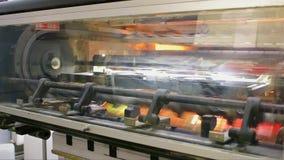Industrial printing machine stock video footage