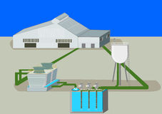 Industrial process that has water reuse system Stock Photo