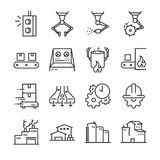 Industrial process icon set. Included the icons as factory, industry, process, production, machine, engineering and more. Stock Photo