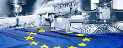 Industry in Europe royalty free stock photos