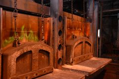 Industrial production of shafts for heavy industry. Blast furnace Royalty Free Stock Photos