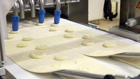 Industrial production systems for the bakery industry. stock footage