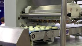 Industrial production systems for the bakery industry. stock video footage