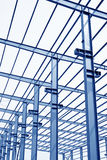 Industrial production workshop roof steel beam Stock Image