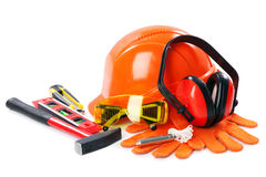 Industrial protective wear Stock Images