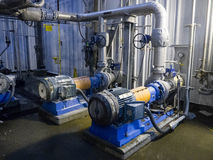 Industrial Pumps and Pipes Royalty Free Stock Photography
