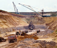Industrial quarries Royalty Free Stock Photo