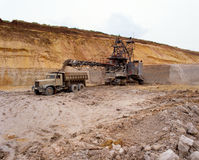 Industrial quarries Stock Photo