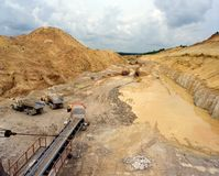 Industrial quarries Stock Photos