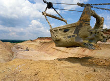 Industrial quarries Royalty Free Stock Images