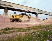 Industrial quarries Stock Image