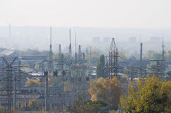 Industrial Quarter an Autumn View Royalty Free Stock Photo