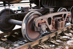 Industrial rail car wheels Stock Images
