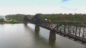 Industrial Railroad Bridge in Western Pennsylvania stock video footage