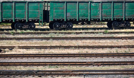 Industrial railroad and infrastructure, cargo transportation, delivery and shipping concept Stock Photo