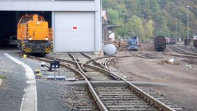 Industrial Railway Royalty Free Stock Photography