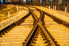 Industrial railway track in daytime Stock Images