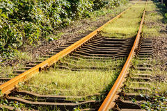 Industrial railway track in daytime Stock Photos