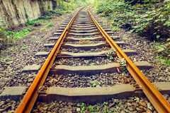 Industrial railway track in daytime Stock Photography