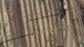 Industrial Railway Tracks stock video footage