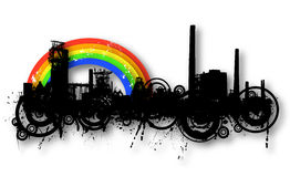 Industrial rainbow Stock Images