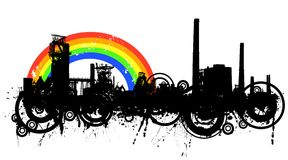 Industrial rainbow Stock Photos