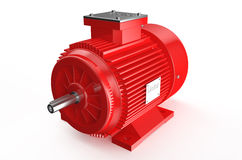 Industrial red electric motor Royalty Free Stock Image