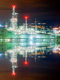 Industrial refinery at night Stock Images