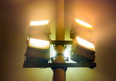 Industrial reflectors outdoors Royalty Free Stock Photo