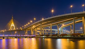 Industrial Ring Bridge across river Royalty Free Stock Photography