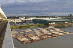 Industrial Riverfront. A riverfront business in Richmond, British Columbia Stock Photography