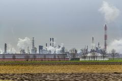 Industrial roadside scenery royalty free stock image