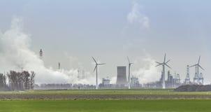 Industrial roadside scenery stock images