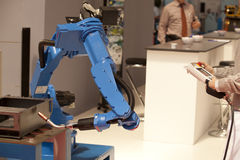 Industrial robot arm. Used for welding Stock Photos