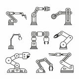 Industrial robot arm Royalty Free Stock Image