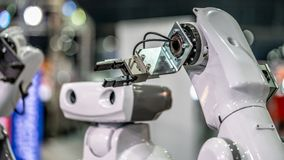 Industrial Robot Hand Mechanism Technology royalty free stock photography
